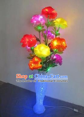 Chinese Traditional Electric LED Lantern Desk Lamp Home Decoration Colorful Flowers Lights