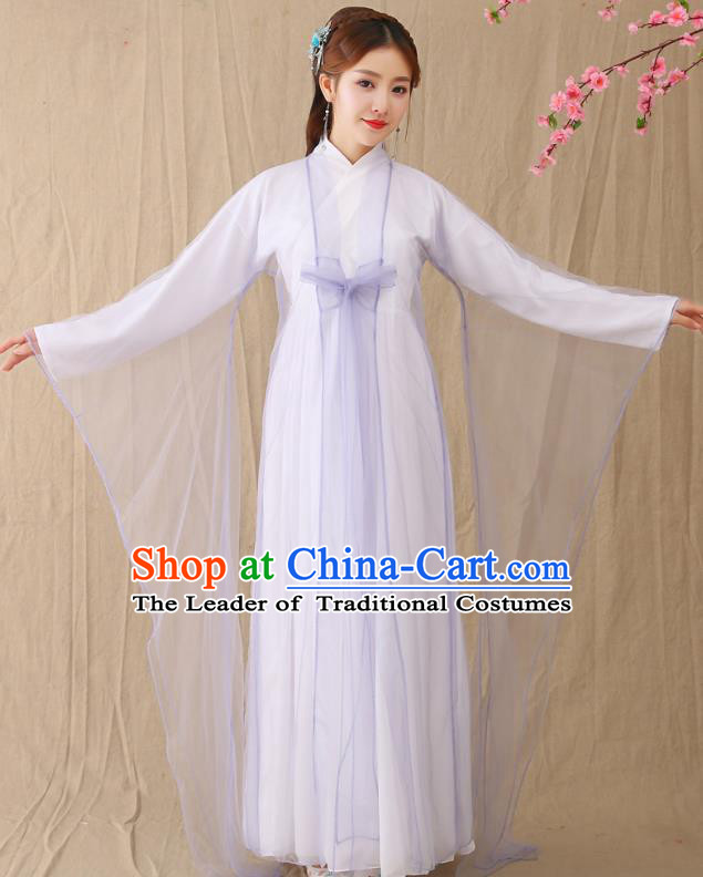 Traditional Chinese Han Dynasty Palace Princess Hanfu Costume, China Ancient Peri Fairy Embroidered Clothing for Women