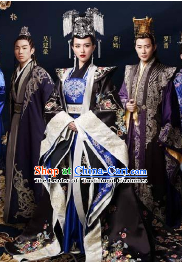 Chinese Ancient Dynasty Princess Costumes Royal Hanfu Clothing