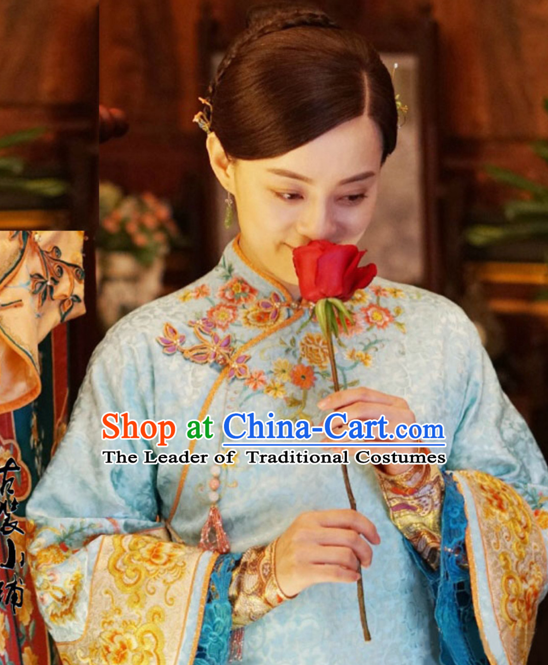 Chinese Minguo Time Rich Lady Embroidered Garment Clothing