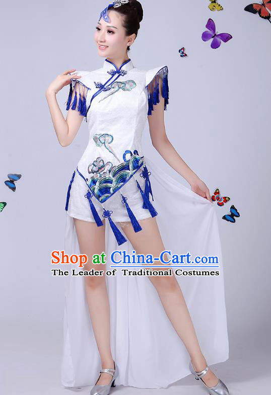 Traditional Chinese Modern Dance Opening Dance Clothing Chorus Jazz Dance Embroidered Costume for Women