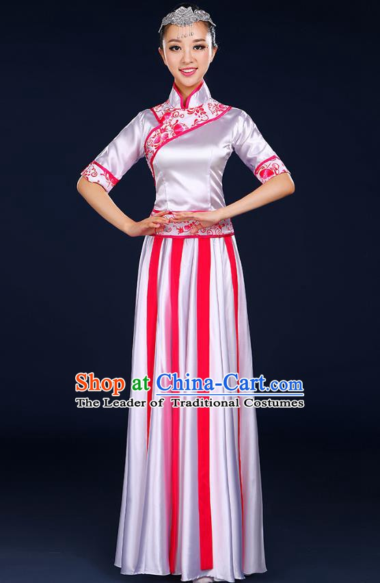 Traditional Chinese Modern Dance Opening Dance Clothing Chorus Classical Dance Red Dress for Women