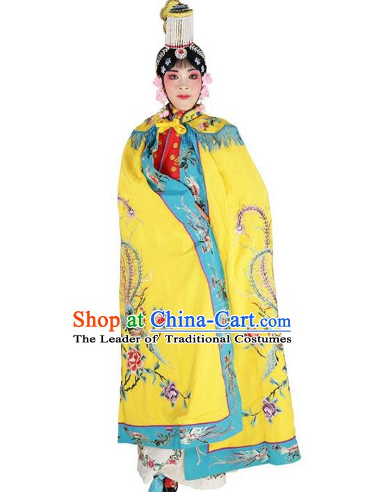Chinese Beijing Opera Actress Costume Embroidered Cloak, China Peking Opera Young Lady Embroidery Clothing