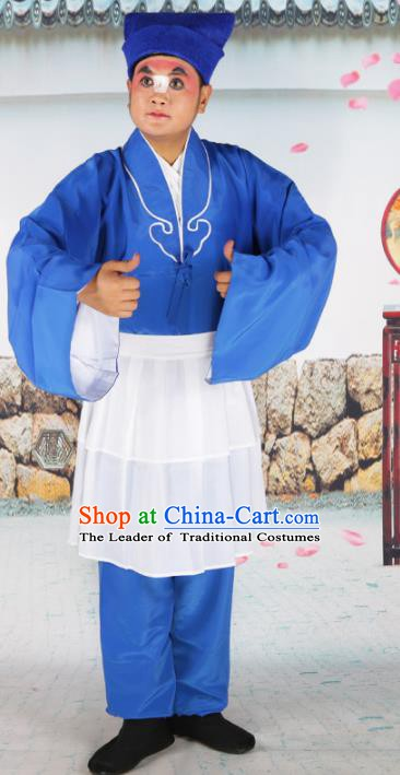 Chinese Beijing Opera Waiter Costume, China Peking Opera Punchinello Clothing