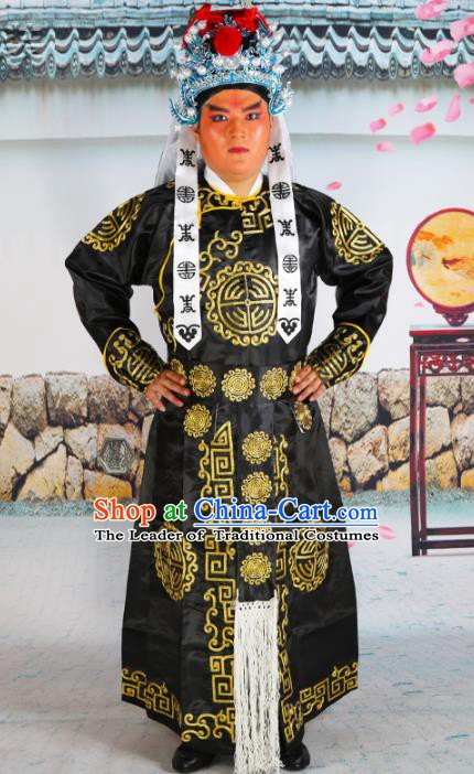 Chinese Beijing Opera Imperial bodyguard Embroidered Costume, China Peking Opera Soldier Clothing