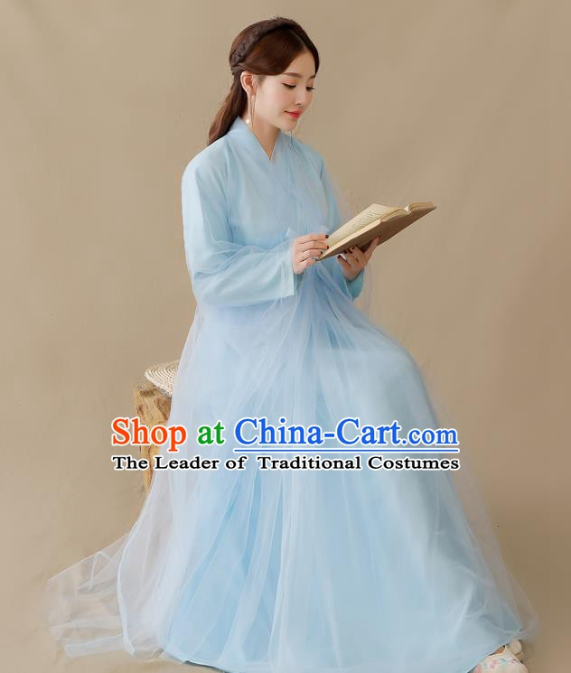 Traditional Chinese Ancient Palace Lady Fairy Costume, China Han Dynasty Princess Hanfu Clothing for Women