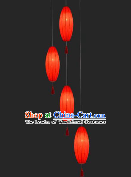 Traditional Chinese Handmade Red Cloth Palace Lantern China Ceiling Palace Lamp