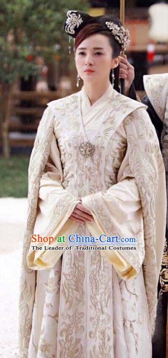 Traditional Ancient Chinese Tang Dynasty Palace Empress Clothing Imperial Queen Embroidered Hanfu Costume for Women