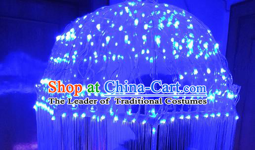 Top Performance Brazilian Carnival Catwalks LED Lights Umbrella Halloween Tassel Umbrella