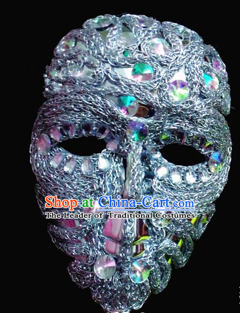 Top Grade Model Show Ceremonial Occasions Accessories Halloween Crystal Mask