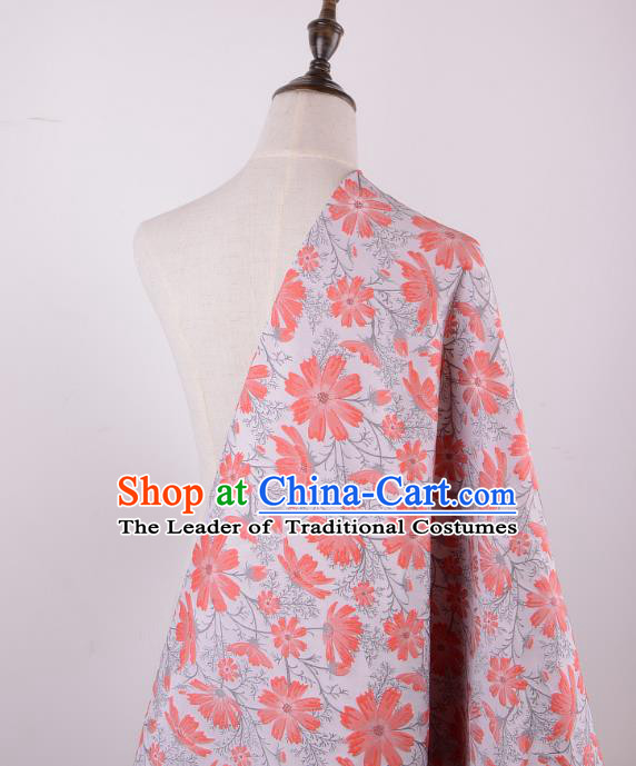 Chinese Traditional Costume Royal Palace Daisy Brocade Fabric, Chinese Ancient Clothing Drapery Hanfu Cheongsam Material