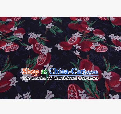 Chinese Traditional Costume Royal Palace Red Lotus Root Pattern Satin Brocade Fabric, Chinese Ancient Clothing Drapery Hanfu Cheongsam Material