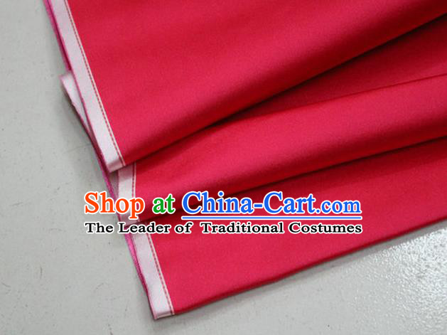 Chinese Traditional Royal Palace Mongolian Robe Fuchsia Pink Satin Brocade Fabric, Chinese Ancient Costume Drapery Hanfu Cheongsam Material