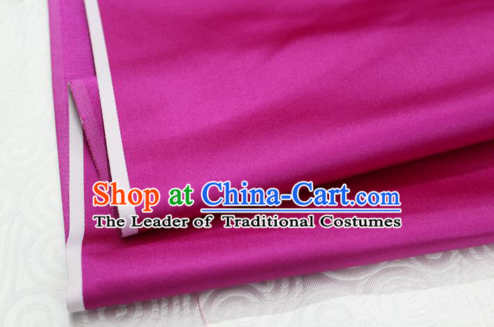 Chinese Traditional Royal Palace Mongolian Robe Rosy Satin Brocade Fabric, Chinese Ancient Costume Drapery Hanfu Cheongsam Material