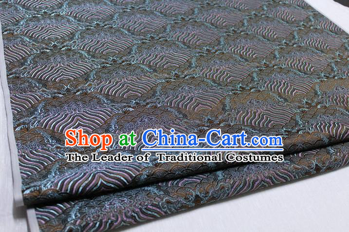 Chinese Traditional Royal Palace Pattern Mongolian Robe Bronze Brocade Fabric, Chinese Ancient Emperor Costume Drapery Hanfu Tang Suit Material