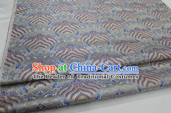 Chinese Traditional Royal Palace Pattern Mongolian Robe Brocade Fabric, Chinese Ancient Emperor Costume Drapery Hanfu Tang Suit Material