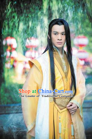 Traditional Chinese Ancient Costumes Ancient Chinese Cosplay Swordsman Knight Embroidered Costume for Men