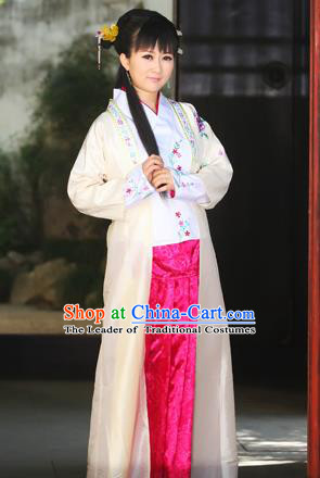 Traditional Ancient Chinese Female Costume, Elegant Hanfu Clothing Chinese Ming Dynasty Imperial Emperess Embroidered Plum Blossom Clothing for Women