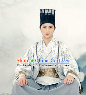 Traditional Ancient Chinese Male Costume, Elegant Hanfu Clothing Chinese Han Dynasty Clothing for Men