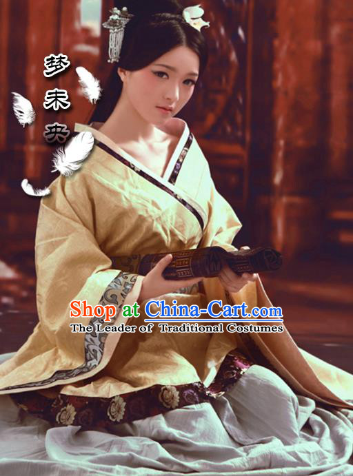 Traditional Ancient Chinese Female Costume, Elegant Hanfu Clothing Chinese Han Dynasty Imperial Princess Clothing for Women