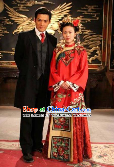 Ancient Chinese Costume Xiuhe Suits Chinese Wedding Dress Red Ancient Longfeng Flown Bride Toast Cheongsam for Women