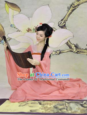 Traditional Ancient Chinese Young Lady Costume, Elegant Hanfu Clothing Chinese Han Dynasty Imperial Princess Tailing Clothing for Women