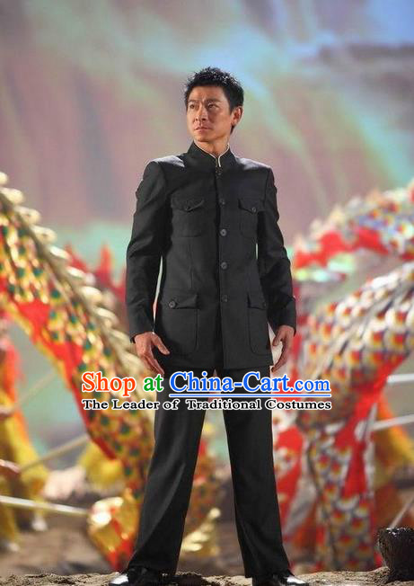 Traditional Ancient Chinese Costume, Chinese Style Tang Suit Mao Suit Ancient Chinese Tunic Suit Sun Yat Sen Suit for Men