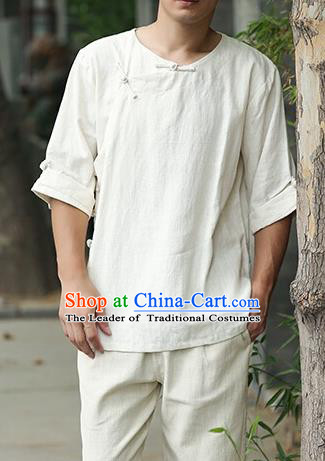 Top Chinese National Tang Suits Frock Costume Martial Arts Kung Fu Training Uniform Kung fu Unlined Upper Garment Chinese Male Zen Suit Gongfu Shaolin Wushu Clothing for Men