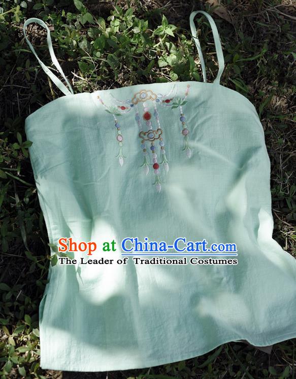 Traditional Ancient Chinese Costume Chest Wrap, Elegant Hanfu Boob ...