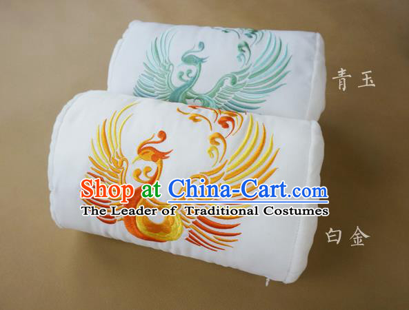 Traditional Ancient Chinese Embroidered Pillow Embroidered Dragon and Phoenix Bolster