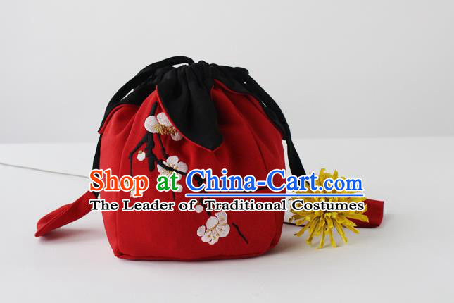 Traditional Ancient Chinese Embroidered Handbags Embroidered Plum Blossom Bag for Women