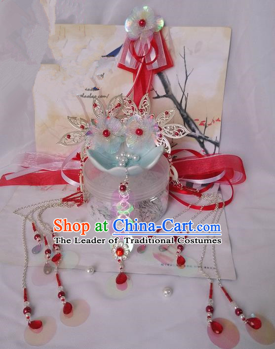 Traditional Handmade Chinese Ancient Classical Hair Accessories Complete Set, Hair Sticks Hair Jewellery, Hair Fascinators Hairpins for Women