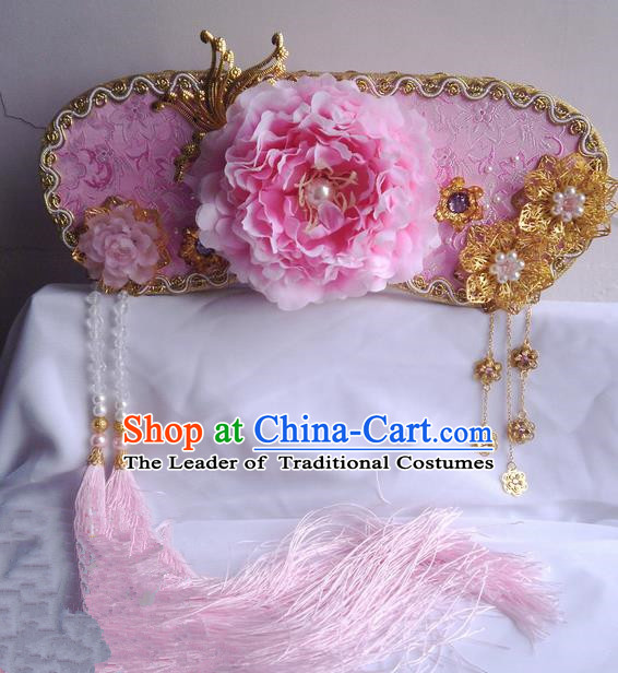 Traditional Handmade Chinese Ancient Classical Hair Accessories Qing Manchu Headwear, Hair Sticks Hair Jewellery, Hair Fascinators Hairpins for Women