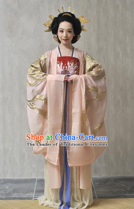 Traditional Ancient Chinese Female Costume Wide Sleeve Cardigan, Elegant Hanfu Clothing Chinese Qing Dynasty Palace Princess Embroidered Phoenix Clothing for Women