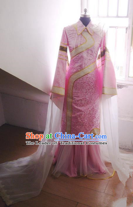Traditional Chinese Imperial Consort Dance Costume, Elegant Hanfu Clothing Chinese Han Dynasty Imperial Empress Cosplay Fairy Tailing Embroidered Clothing for Women