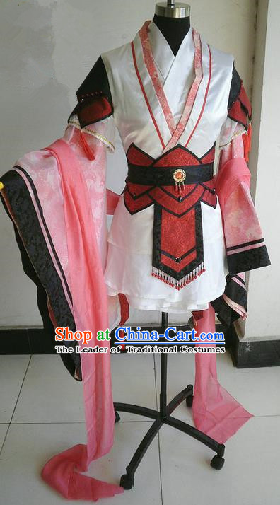 Traditional Chinese Imperial Prince Costume, Elegant Hanfu Clothing Chinese Han Dynasty Imperial Prince Cosplay Embroidered Clothing for Men