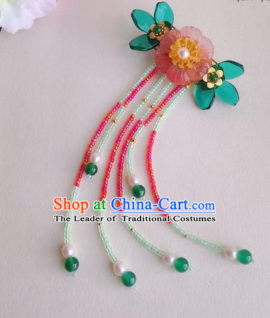 Traditional Handmade Chinese Ancient Princess Classical Accessories Jewellery Coloured Glaze Hair Sticks Hair Jewellery, Hair Fascinators Hairpins for Women