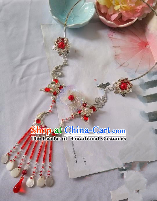 Traditional Handmade Chinese Ancient Princess Classical Accessories Jewellery Necklace for Women