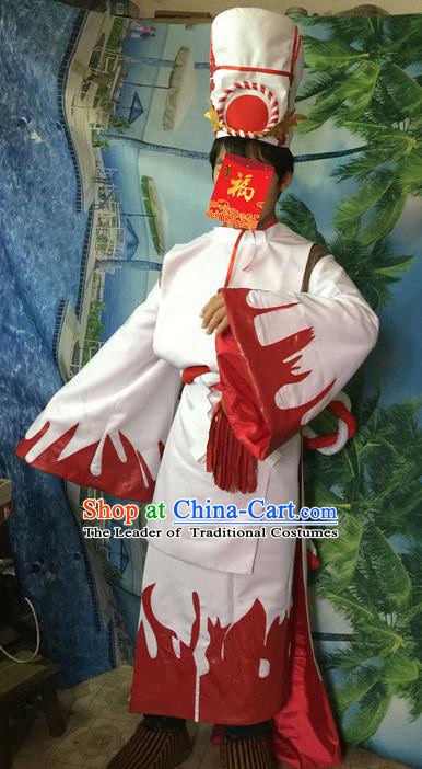 Traditional Ancient Chinese Classical Cartoon Character Uniform Cosplay Game Onmyoji Role Complete Set for Men