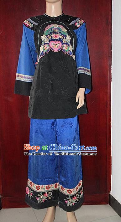 Chinese Folk Dance Ethnic Wear China Clothing Costume Ethnic Dresses Cultural Dances Costumes Complete Set for Women