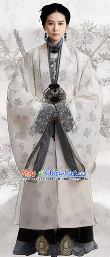 Traditional Chinese Ming Dynasty Costume, Chinese Ancient Imperial Empress Embroidery Costumes for Women