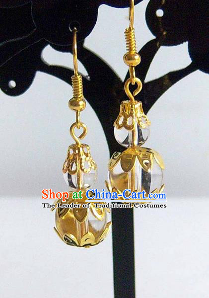 Traditional Handmade Chinese Ancient Classical Calabash Wedding Earrings for Women
