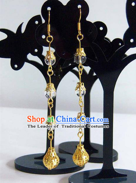 Traditional Handmade Chinese Ancient Classical Crystal Wedding Earrings for Women
