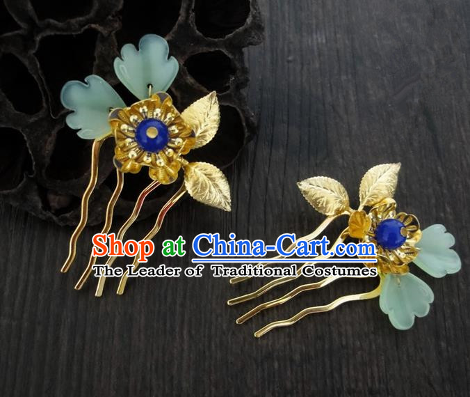 Traditional Handmade Chinese Ancient Classical Hair Accessories Barrettes Peony Hairpin Headdress Hair Jewellery, Hair Fascinators Hairpins for Women