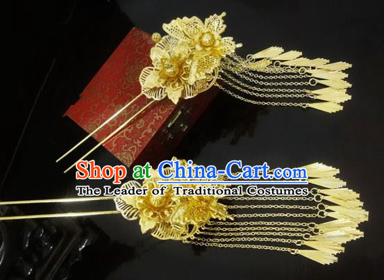 Traditional Handmade Chinese Ancient Classical Hair Accessories Barrettes Hairpin, Imperial Emperess Hair Jewellery, Hair Fascinators Hairpins for Women