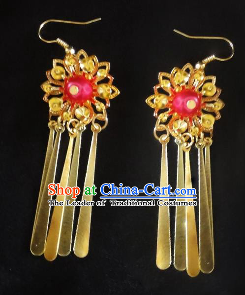 Traditional Handmade Chinese Ancient Classical Wedding Earrings for Women