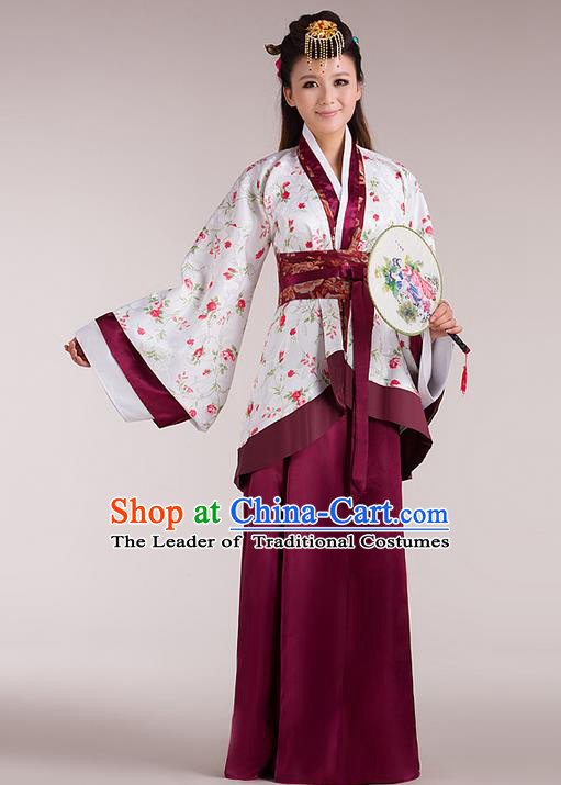 Traditional Ancient Chinese Imperial Emperess Costume, Chinese Han Dynasty Wedding Dress, Cosplay Chinese Peri Imperial Princess Tailing Clothing Hanfu for Women