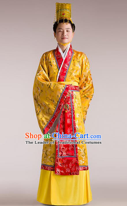 Traditional Ancient Chinese Imperial Emperor Costume, Chinese Tang Dynasty Male Wedding Dress, Cosplay Chinese Imperial King Clothing Hanfu for Men