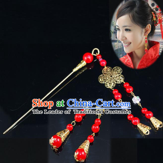 Traditional Handmade Chinese Ancient Classical Hair Accessories Barrettes Hairpin, Blueing Hair Sticks Hair Jewellery, Hair Fascinators Hairpins and Earrings for Women