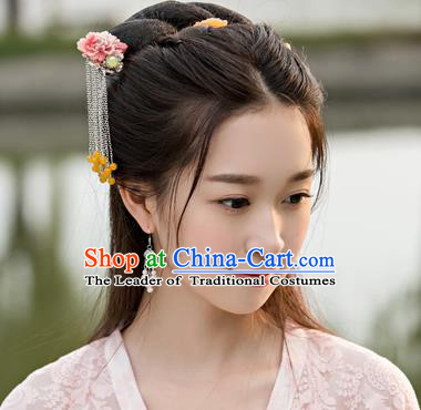 Traditional Handmade Chinese Ancient Classical Hair Accessories Barrettes Hairpin, Hair Sticks Hair Jewellery, Hair Fascinators Hairpins for Women